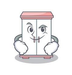 smirking cabinet character cartoon style vector image