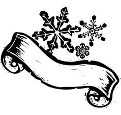 Snowstorm Banner 2 vector image