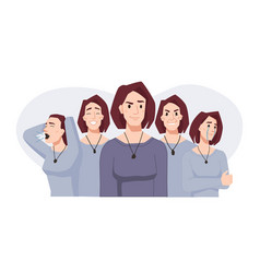 spit personality woman in bipolar disorder vector image