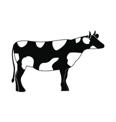 Spotted cow icon simple style vector