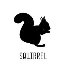 squirrel silhouette animal design vector image