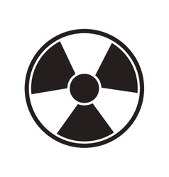 toxic and nuclear icon vector image