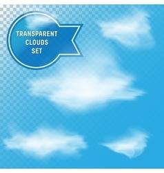 Transparent Clouds Set vector image vector image