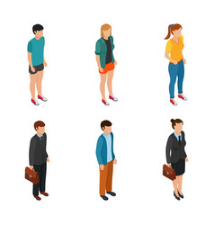 Trend isometric people of different characters vector