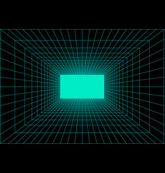 Virtual reality tunnel or wormhole perspective vector