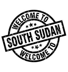 welcome to south sudan black stamp vector image