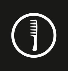 white comb on black background white c vector image