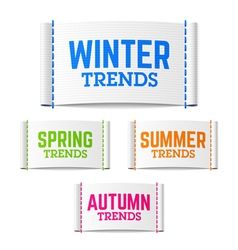 Winter spring summer and autumn trends vector