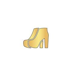 Woman boots computer symbol vector
