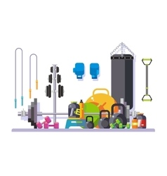 Gym flat style vector image vector image