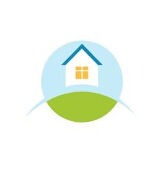 home house logo icon vector image vector image