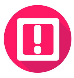 mark or exclamation icon of set material design vector image