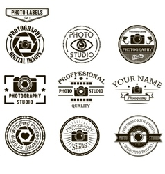 set of photography logo templates Photo vector image vector image
