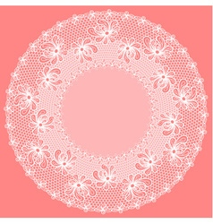 Decorative flower lacy frame vector image vector image