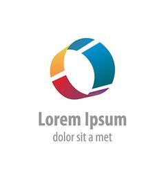 Letter O industrial logo vector image