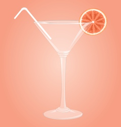 Martini glass with grapefruit vector image vector image