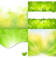 Nature backgrounds set vector