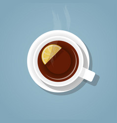a cup of tea vector image vector image