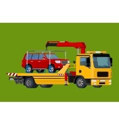 Car towing truck evacuator Online roadside vector image