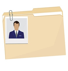 File folder with photo vector image vector image