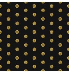 Gold foil shimmer glitter polkadot seamless vector image vector image