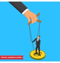 people manipulating vector image vector image