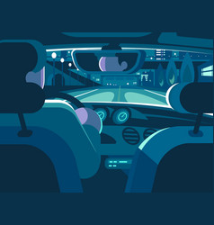 view from back seat of car vector image vector image