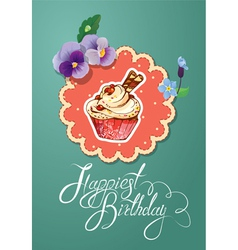 card cake 2 380 vector image vector image