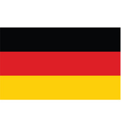 germany flag official colors and proportion vector image
