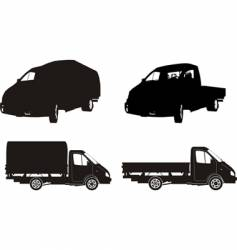 lorry silhouettes vector image