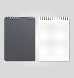 realistic notebooks with spiral - cover and lined vector image vector image