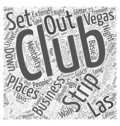 Strip Clubs of Las Vegas Word Cloud Concept vector image vector image