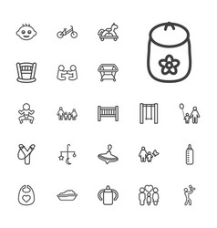 22 kid icons vector