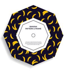 abstract shape postcard with seamless banana vector image
