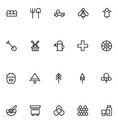 Agriculture Line Icons 3 vector image