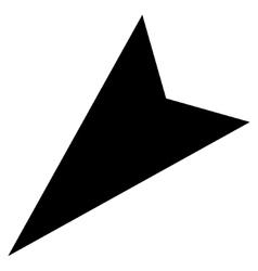 Arrowhead Left-Down Flat Icon vector