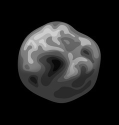 Asteroid icon isometric style vector