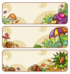 autumn banners part 1 vector image