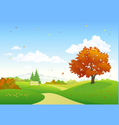 autumn park scenery vector image