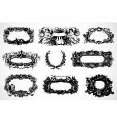baroque frames vector image