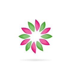 Beautiful flower logo vector image