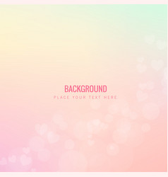 beautiful pink hearts pink background image vector image