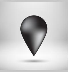 Black bubble map pointer badge vector