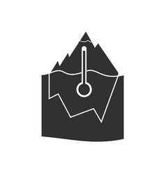Black icon on white background iceberg and vector