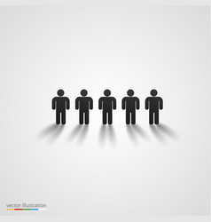 Black people silhouette row team concept vector