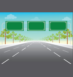 blank road sign on highway vector image