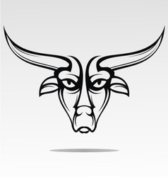 Bulls Head Tattoo Design vector image