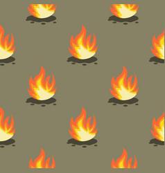 cartoon set silhouettes fire vector image