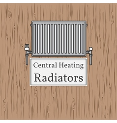 Central Heating Radiators badge Radiator vector