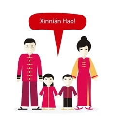 Chinese people congratulations happy new year vector